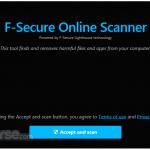 F-Secure Online Scanner App for PC Windows 10 Last Version