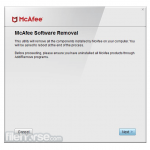 McAfee Consumer Product Removal Tool App for PC Windows 10 Last Version