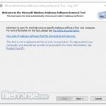 Microsoft Malicious Software Removal Tool (64-bit) App for PC Windows 10 Last Version