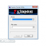 Kingston Format Utility App for PC Windows 10 Last Version